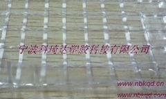 耐寒阻燃抗靜電PVC透明夾網布