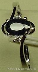 925蓝宝石戒指