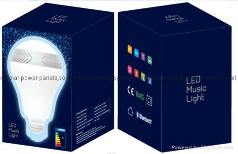 High quality LED bluetooth stereo lamp with Remote Control e27 220V rgb led ligh