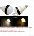 High quality LED bluetooth stereo lamp with Remote Control e27 220V rgb led ligh