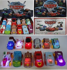 cars 2 simulation vinyl plastic toy car with light