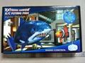 helium air swimmer flying shark toy