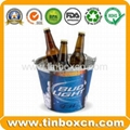 Tin ice bucket metal barrel beer tin
