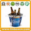 Tin ice bucket metal barrel beer tin