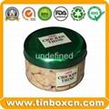 Round tin cookies tin box biscuit tin can food tin container 3