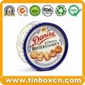 Round tin cookies tin box biscuit tin can food tin container 1