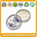 Round confectionary mint tin can clac clic tin candy tin box 4