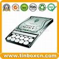 Slide candy tin box sliding gum mint tin can 1