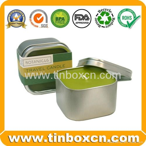 Candle tin box travel tin can wax tin holder 1