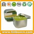 Candle tin box travel tin can wax tin
