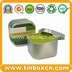 Candle tin box travel ti