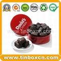 Food packaging round chocolate tin box metal tin can 1