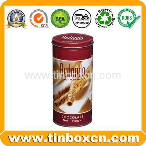 Food packaging round chocolate tin box metal tin can 4