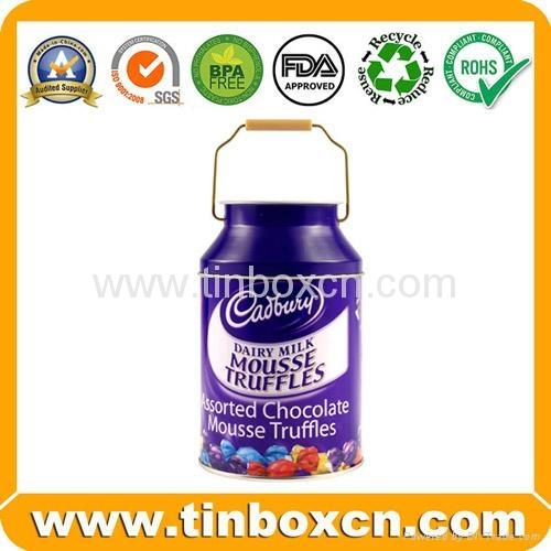 Food packaging round chocolate tin box metal tin can 2