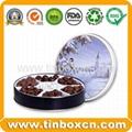 Food packaging round chocolate tin box metal tin can 5