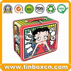 Rectangular lunch tin bo