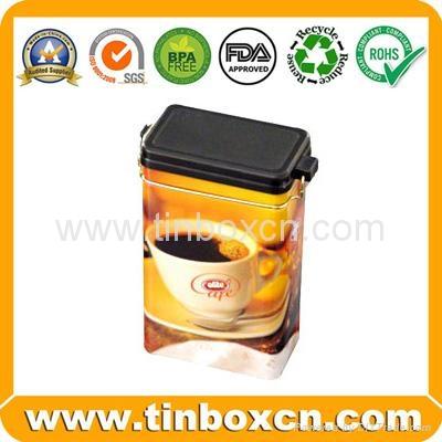 Rectangular airtight coffee tin box metal tin coffee can food packaging 2