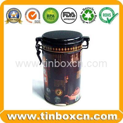 Rectangular airtight coffee tin box metal tin coffee can food packaging 3