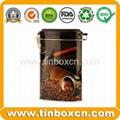 Rectangular airtight coffee tin box metal tin coffee can food packaging 4
