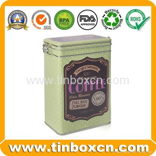 Rectangular airtight coffee tin box metal tin coffee can food packaging 5