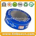 Round custom tin box metal tin can with