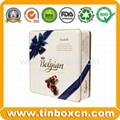 Square chocolate tin box food tin container metal tin can