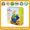 Square chocolate tin box food tin container metal tin can 2