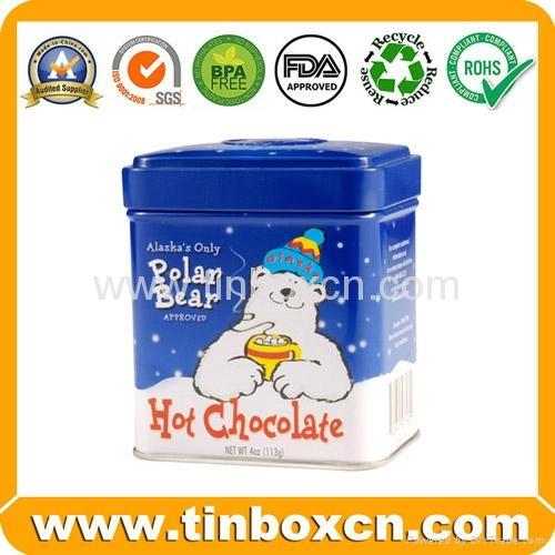Square chocolate tin box food tin container metal tin can 3