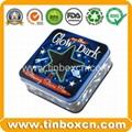 Square chocolate tin box food tin container metal tin can 5