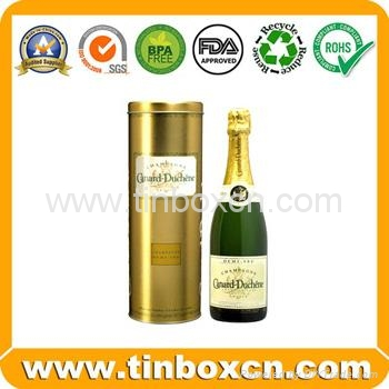 Wine tin box whisky tin container vodka metal tin box packaging 1