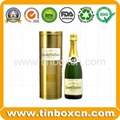 Wine tin box whisky tin container vodka