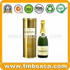 Wine tin box whisky tin