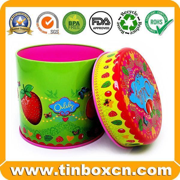 Food Packaging Round Metal Candy Tin Box 1