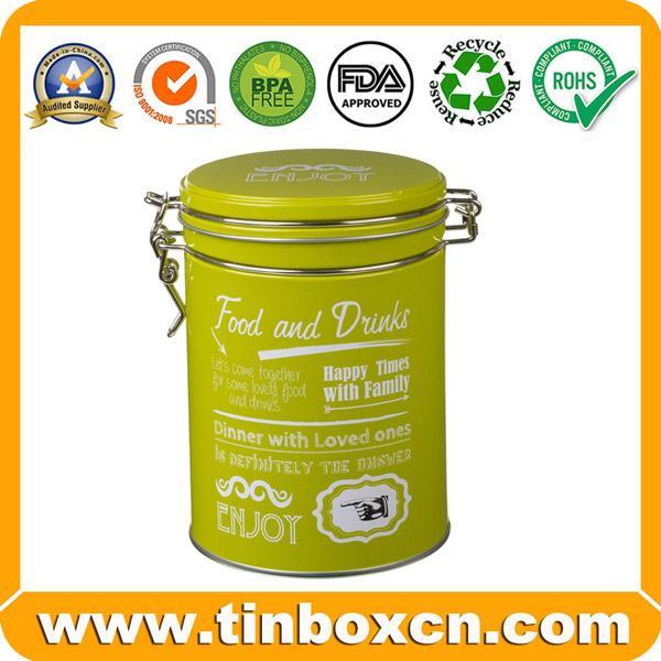 Food Packaging Round Metal Candy Tin Box 4