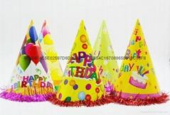 生日派对纸帽小丑帽