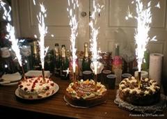 生日蛋糕烟花蜡烛喷火火焰蜡烛酒吧KTV蜡烛