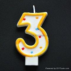 单个数字生日蜡烛
