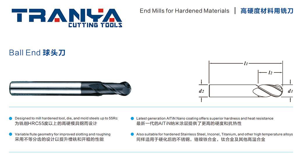 高硬度材料專用銑刀 1