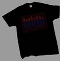 EL flashing T-shirt fashion