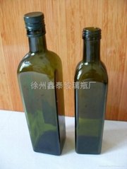 墨綠橄欖油玻璃瓶