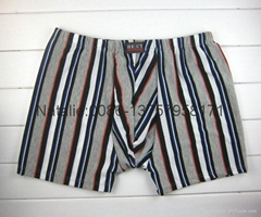 cheap stock men boxer stripe printed men underwear