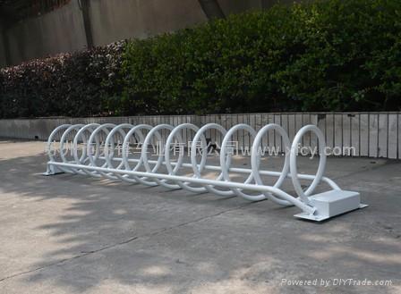 螺旋形自行車停車架 1