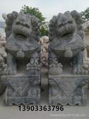 石獅子石雕大理石雕刻