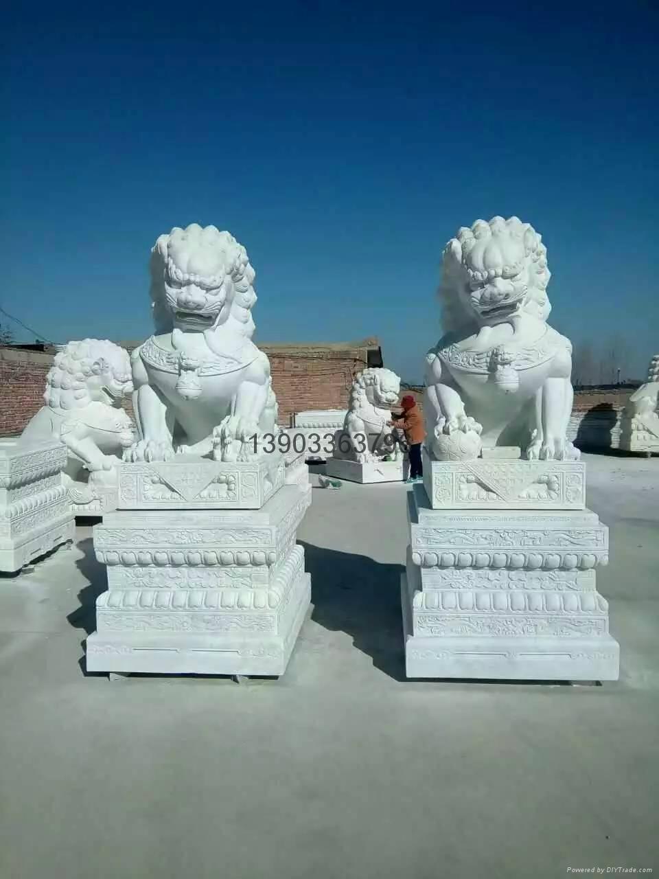 石狮子石雕大理石雕刻 3