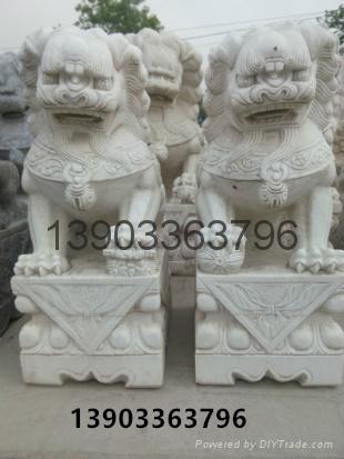石狮子石雕大理石雕刻 4