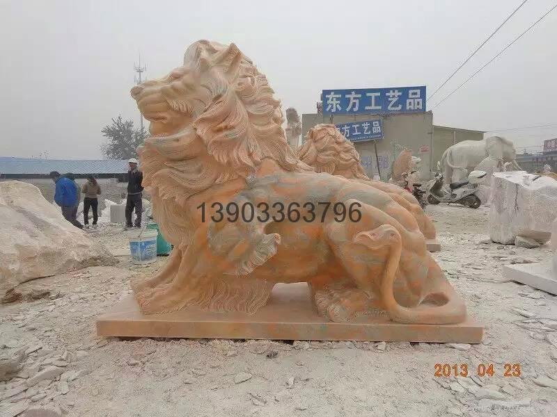 石狮子石雕大理石雕刻 5