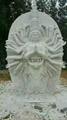 漢白玉三面觀音雕像  4