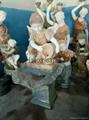 人物喷泉接色小孩喷泉壁泉