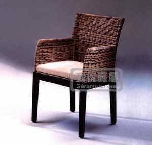 藤編南洋風情椅 1