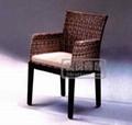 藤編南洋風情椅